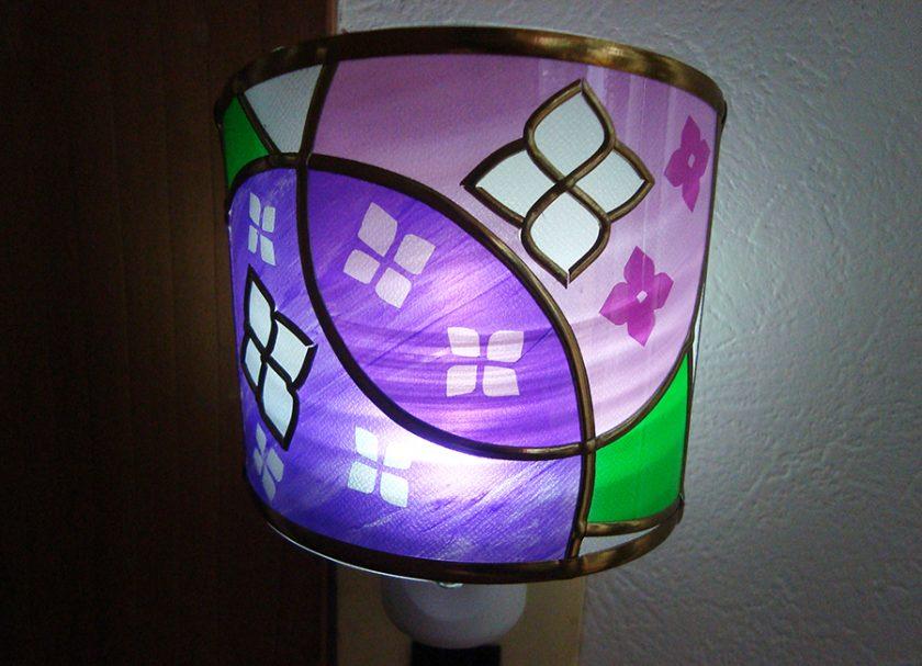 紫陽花の足元ランプ