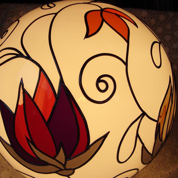 クルクル花の灯り