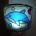 イルカの足元ランプ