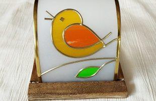 小鳥のグラスアート体験キット