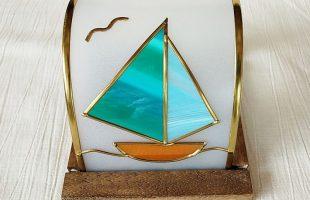 ヨットのグラスアート体験キット
